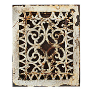 Antique Cast Iron Wall Vent, Late 1800s