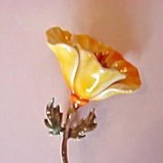 Fantastic HAR Figural Pin - Beautifully Enameled Floral Flower Brooch