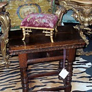 Pair of giltwood / gilt faux bamboo stools