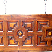 Italian Walnut & Fruitwood Headboard for a King / Queen Bed