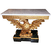 Carved Giltwood George III Styled Eagle Console Table