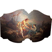 French Oil In Manner of Boucher ,The Four Seasons as a Large Overdoor Panel