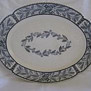 SALE Antique Copeland Black on Ivory Platter 1800's