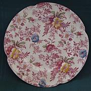 """SALE English Johnson Brothers China Chintz Plate """"Victorian"""" Pattern"""