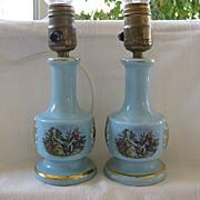 SALE Pair of Boudoir Vanity Lamps 1940's