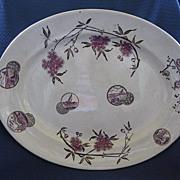 SALE Antique Large Aesthetic English Staffordshire Transferware Platter
