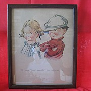 SALE Print of Two Children by Illustrator C. H. Twelvetrees