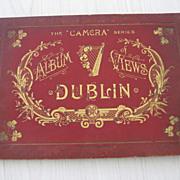 SALE Late 1800's Photo Album Pictorial Views of Dublin