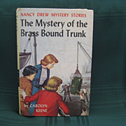"SOLD Nancy Drew Book No. 17 ""The Mystery of the Brass Bound Trunk"""