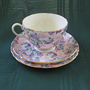 SALE English Shelley Chintz Plate, Cup, and Saucer