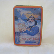 SALE Vintage Lifebuoy Soap Advertising Tin Box