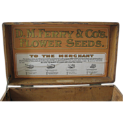 SOLD Antique Flower Seed Display Box - D.M. Ferry and Co.