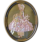Framed Pink Ribbon Doll Picture in Frame