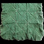 Vintage Green Hand Crochet Runner
