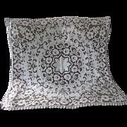 """Vintage Cotton Lace Tablecloth 40"""" x 40"""""""