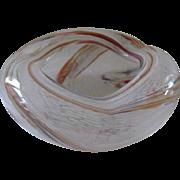 Venetian Murano Blown Art Glass Ashtray Bowl