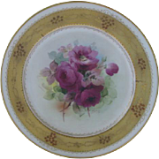 "Fabulous Haviland Pickard Limoges Porcelain 10"" Plate ~ Hand Painted with Artist Signatur"