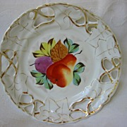 Pair of Decorative China Plates with Fruit Design