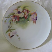 Lovely Hand Painted Floral China Plate
