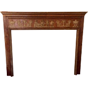 Antique Georgian Pine Classical Fireplace Surround/Mantle Circa 1790