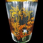 Bohemian Crystal and Gilt Vase/ Ice Pail/ Wine Bucket