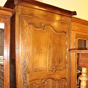 REDUCED French wedding armoire bonnetiere circa 1800