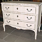 French painted Louis XV chest of drawers