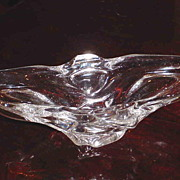 Crystal dish of Lorraine from France