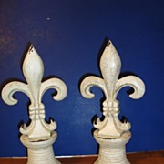 Pair of large French Fleurs de Lys
