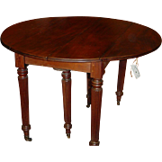 SALE Wonderful and very valuable French Louis Philippe period table with 2 drop leaves + 3 ext