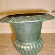 French cast iron vase urns Medicis