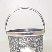 SALE Victorian English Miniature Sterling Bucket 1899