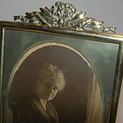 Antique English Brass Photograph Frame - Victorian