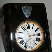 SOLD Handsome Antique Travelling Pocket Watch In Case - Tortoise Shell