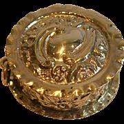 SALE Antique Sterling Silver Pill Box - Birmingham 1902