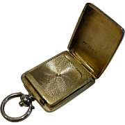 Victorian Sterling Silver Postage Stamp Case - Sovereign Case Action - 1891