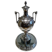 SALE Grand Antique English Silver Plated Urn By Elkington - 1867