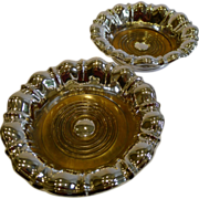 SALE Large Grand & Elegant Pair Victorian Silver Plated Wine or Champagne Coasters c.1880