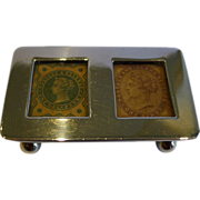 Wonderful Antique English Sterling Silver Postage Stamp Box