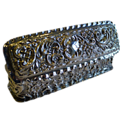 SALE Antique English Sterling Silver Ring Box for Two Rings - 1901