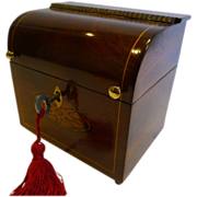 Antique English Inlaid Georgian Tea Caddy c.1810