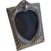 SALE Antique English Sterling Silver Heart Photograph Frame by William Comyns