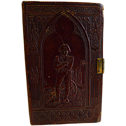 Antique Leather Cheroot Case - Napoleon, c.1830 / 1840 - Book Form