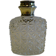 SALE Antique Sterling Silver Topped Scent / Cologne Bottle - 1881