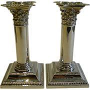 SALE Pair Antique English Sterling Silver Candlesticks by Henry Matthews - 1896