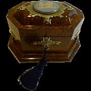 Rare & Grand Antique English Tea Caddy by Asser & Sherwin, London c.1860 - Wedgwood Mount