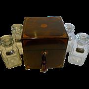SALE Grand Large Antique English Decanter / Drinks Box c.1880