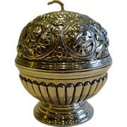 SOLD Antique English Sterling Silver String Box / Dispenser - 1892