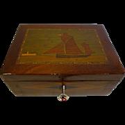 SALE Antique English Trinity House Jewelry or Desk Box c.1860