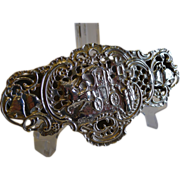 Antique English Sterling Silver Wedding Pot Pourri Box by William Comyns